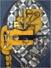 Wall sticker  Guitar, Bottle, and Glass - Juan Gris