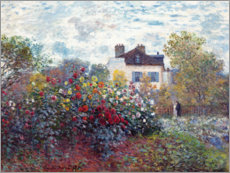 Premium poster  The Artist's Garden in Argenteuil - Claude Monet