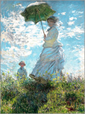 Canvas print  Woman with a parasol - Madame Monet and her son - Claude Monet