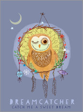 Wall sticker  Dream catcher - Elisandra Sevenstar