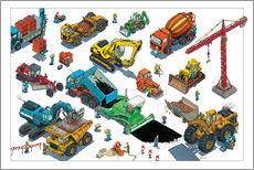 Wall sticker  Construction machines - Helmut Kollars