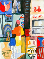 Gallery print  Merchant with jugs - August Macke