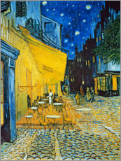 Gallery Print  Cafe Terrace on the Place du Forum in Arles in the evening - Vincent van Gogh