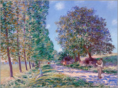 Gallery print  Poplar Avenue at Moret on the Loing - Alfred Sisley