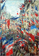 Premium poster  Rue Montorgueil in Paris in the celebrations at 30 June - Claude Monet