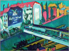 Wall sticker  Tram and railway - Ernst Ludwig Kirchner