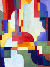 Wall sticker  Coloured Forms I - August Macke