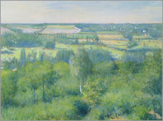 Gallery print  The valley of Yerres - Gustave Caillebotte