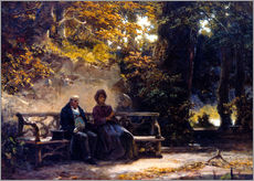 Wall sticker  The couple on the bench - Carl Spitzweg