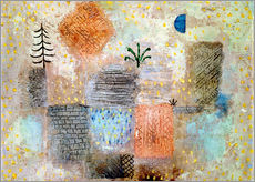 Wall sticker  Park with the cool half-moon - Paul Klee