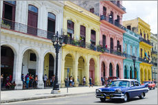 Gallery print  Pastel buildings in Havana, Cuba - Bill Bachmann