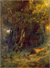 Gallery print  Forest landscape with resting pan - Arnold Böcklin