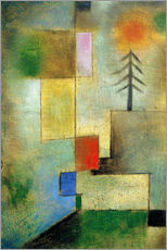 Wall sticker  Small pine image - Paul Klee