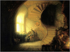 Wall sticker  Meditating philosopher - Rembrandt van Rijn