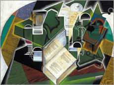 Wall sticker  Still life with a book and glasses - Juan Gris