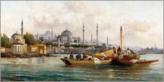 Wall sticker  Merchant vessels in front of Hagia Sophia, Istanbul - Anton Schoth