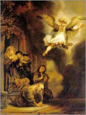 Gallery print  Archangel Raphael leaves the family of Tobias - Rembrandt van Rijn