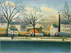 Wall sticker  Suburb on the banks of the Marne - Henri Rousseau