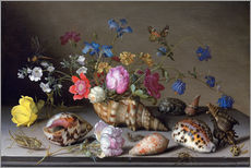 Wall sticker  Flowers, shells and insects - Balthasar van der Ast