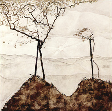 Wall sticker  Autumn sun and trees - Egon Schiele