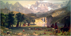 Gallery print  Indian camp in the Rockies - Albert Bierstadt