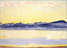 Gallery print  Mont Blanc with red clouds - Ferdinand Hodler