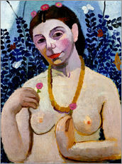 Gallery print  Paula Modersohn-Becker as half nude with amber necklace II - Paula Modersohn-Becker