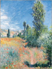 Wood print  Landscape in Saint-Martin Lees - Claude Monet
