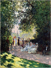 Wall sticker  In the Park Monceau - Claude Monet