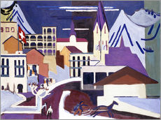 Gallery print  Davos - Square at the station - Ernst Ludwig Kirchner
