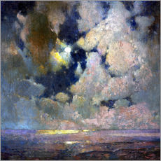 Gallery print  Moonlight on Ocean - Søren Emil Carlsen