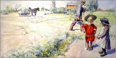 Wall sticker  Esbjorn with a little girl - Carl Larsson