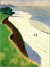 Acrylic print  The Cliff and the White Shore - Felix Edouard Vallotton