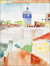 Wall sticker  Hammamet with the mosque, 1914 - Paul Klee