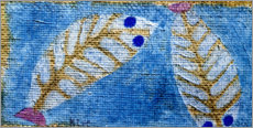 Wood print  Blue-eyed fish - Paul Klee