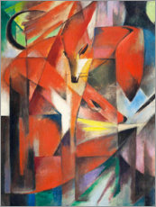 Canvas print  Foxes - Franz Marc