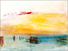 Acrylic print  Venice, seen by Fusina - Joseph Mallord William Turner