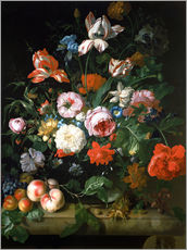 Wall sticker  Still life with flowers and fruits - Rachel Ruysch