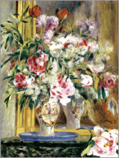 Wall sticker  Vase of flowers in front of the mirror - Pierre-Auguste Renoir