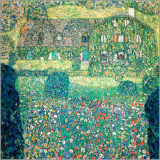 Wall sticker  Country house on Attersee lake - Gustav Klimt