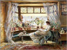 Wall sticker  Reading at the window - Charles James Lewis