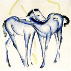 Gallery Print  Two blue horses - Franz Marc