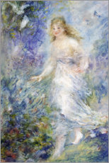 Foam board print  Spring (The Four Seasons) - Pierre-Auguste Renoir