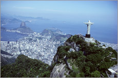 Gallery Print  Rio de Janeiro with Christ the Redeemer Statue - Sue Cunningham