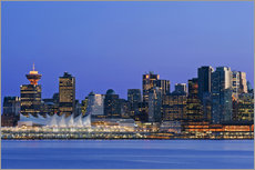 Wall sticker  Vancouver skyline at night - Rob Tilley