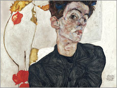 Wall sticker  Egon Schiele with Physalis - Egon Schiele