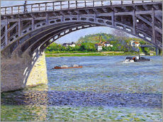 Gallery print  Bridge at Argenteuil - Gustave Caillebotte