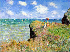 Wall sticker  Clifftop walk at Pourville - Claude Monet