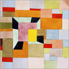 Gallery print  Split color squares - Paul Klee