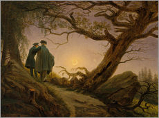Gallery print  Two men contemplating the moon - Caspar David Friedrich